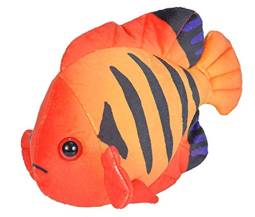 Wild Republic Angelfish plush, Stuffed Animal, Plush Toy, Gifts for Kids, Sea Critters 8 inches -