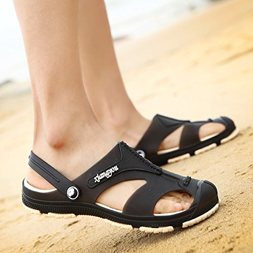 Herren Schuhe Unisex Clogs Schwarz EU Gartenschuhe 40 Erwachsene Slipper Gartenclogs Latschen Sandalen qwgATE
