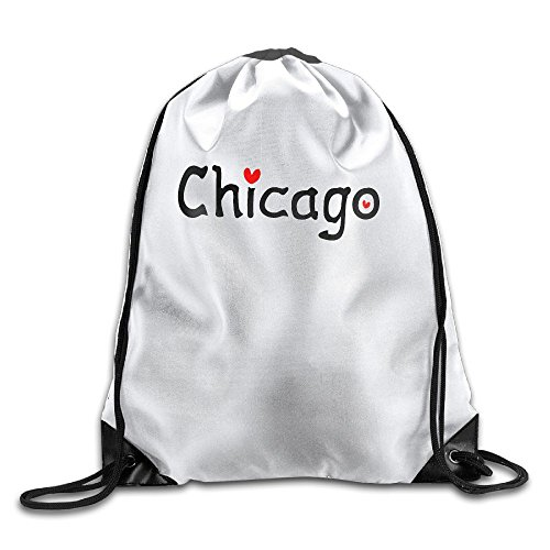 Love Chicago Drawstring Backpack Sackpack Backpack For Men & Women School Travel Backpack