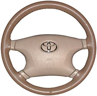 product image for Wheelskins Genuine Leather Oak Steering Wheel Cover Compatible with Plymouth Vehicles -Size AX