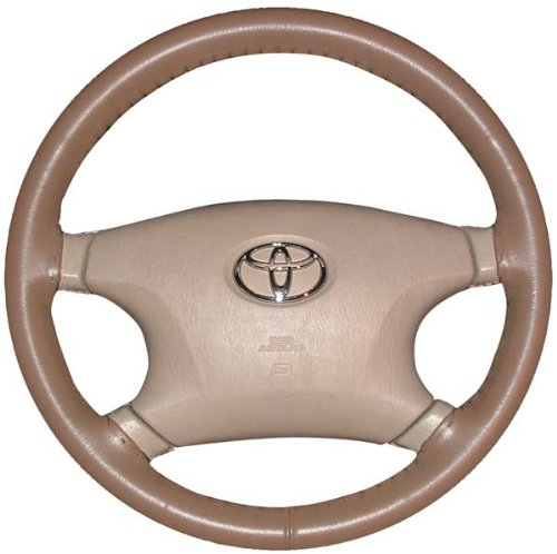 Wheelskins Jaguar Genuine Leather Oak Steering Wheel Cover-Size C by Wheelskins