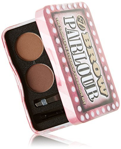W7 Brow Parlour The Complete Eyebrow Grooming Kit, Pink Tin by W7