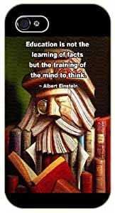 iPhone 4 / 4s Education is not the learning of facts - black plastic case / Einstein, Inspirational and motivational life quotes / SURELOCK AUTHENTIC by icecream design
