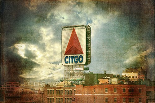 (CITGO Sign Fenway - Boston Prints - Red Sox Wall Art - Fenway Park Decor )