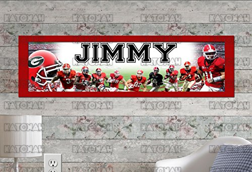(Customized Name Painting Georgia Bulldogs Poster With Your Name On It Personalized Banner With Border Mat )