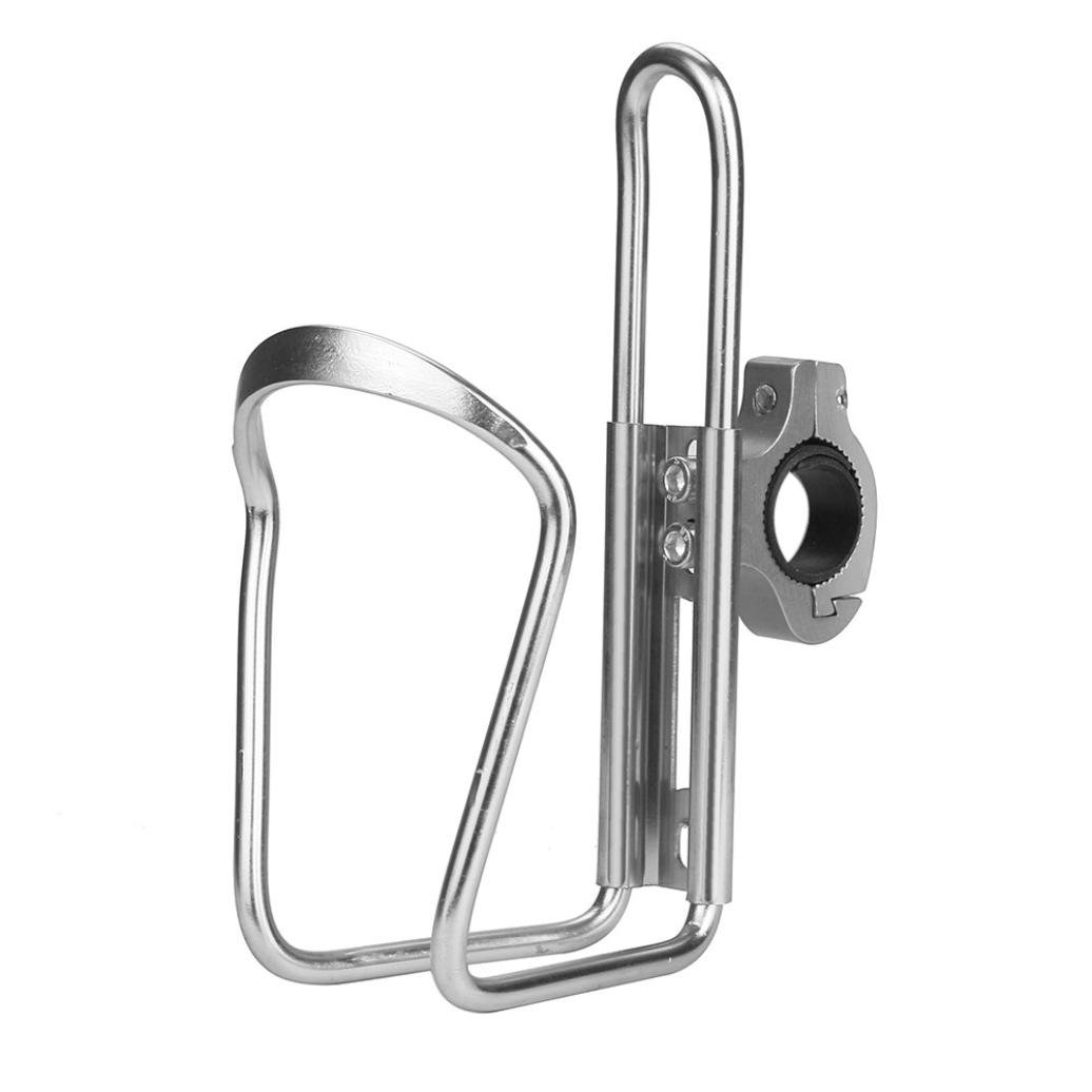 Witspace Bike Cycling Aluminum Alloy Handlebar Bicycle Water Bottle Holder Cages (Silver)