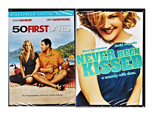 Cute Flicks Never Been Kissed & 50 First Dates Romantic Comedy set Double Feature Bundle