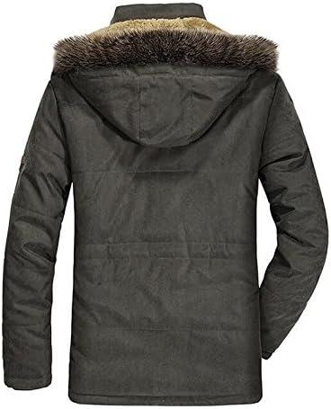 ONTBYB Mens Winter Mid Length Hoodies Sherpa Lined Parka Jacket Coats