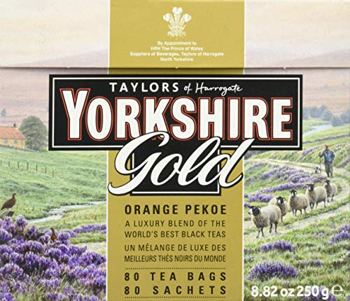 (Taylors of Harrogate Yorkshire Gold, 80 Teabags, (Pack of 5))