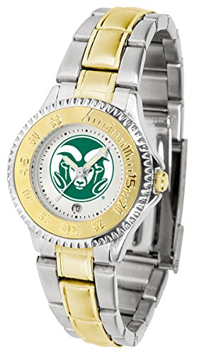 Colorado State Rams Competitor Two-Tone Women's Watch by SunTime