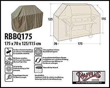 Cubierta protectora rbbq175 BBQ Barbacoa funda, lona, barbacoa, 175 cm meteorológica funda para