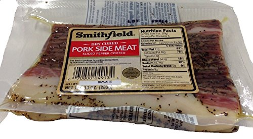Smithfield Dry Cured Pork Side Meat - Sliced and Pepper Coated (10 Oz) (Cured Peppers)