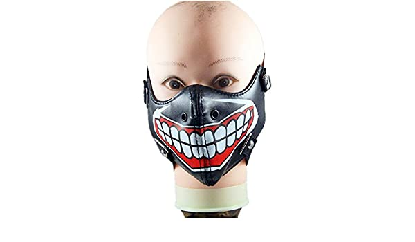 Qiu - Máscara para Hombre y Mujer, Diseño de Ghoul: Amazon.es: Deportes y aire libre