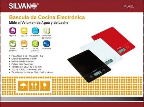 Bascula cocina electronica peso digital mide volumen agua y leche 1gr a 5 kilos: Amazon.es: Hogar