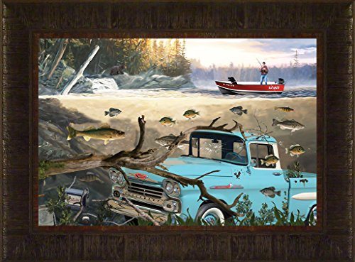 Apache Stage By Todd Thunstedt 17.5x23.5 Bait Lake Bass Largemouth Smallmouth Walleye Fish Fishing Bass Musky Muskellunge Boat Minnow Motor Richness deeps Finder Framed Art Print Wall Décor Picture