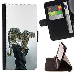 Momo Phone Case / Flip Funda de Cuero Case Cover - Enfriar Snow Leopard - Sony Xperia M4 Aqua
