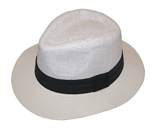 Lady's Fashion Summer Golf Sun Hat Panama Cap - Brand New (White, 57cm)