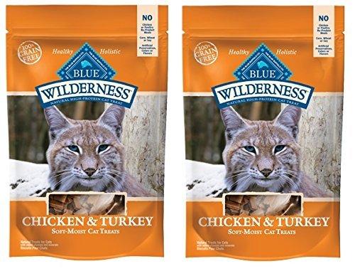 Blue Buffalo Wilderness Grain Free Cat Treats  Chicken & Turkey  4 oz