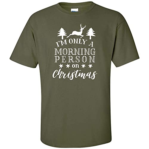 b9226081c I'm Only A Morning Person On Christmas Deer Trees Stars White Logo Kids T  Shirt Christmas Holiday X-Mas Youth Boys Girls Funny Joke Clever Fun Child  Size ...