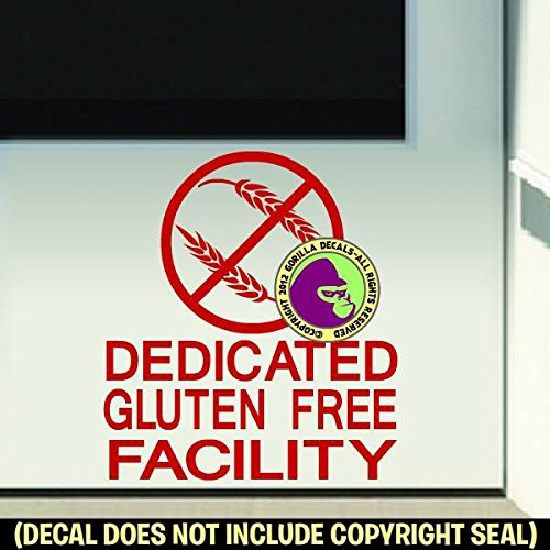 DEDICATED GLUTEN FREE FACILITY Vinyl Decal Sticker D