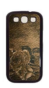 Design Phone Protective Cover Samsung galaxy case I9300 - Retro gray large peony