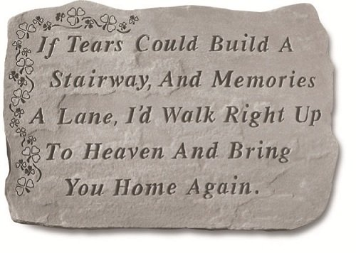 If Tears Could Build A Stairway Memorial Stone with Shamrock For Sale