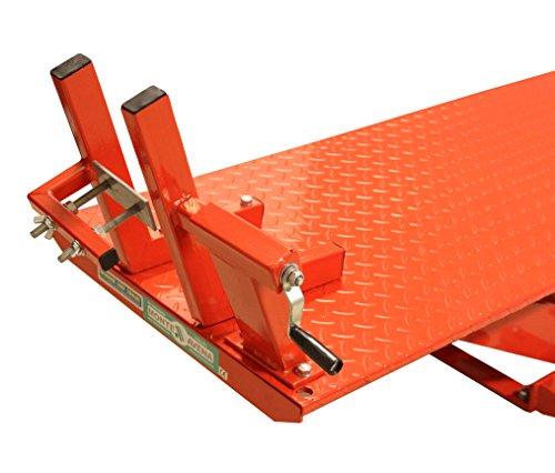 Ponte Sollevatore Idraulico Moto Pompa A Pedale E Ad Aria 365 Kg M