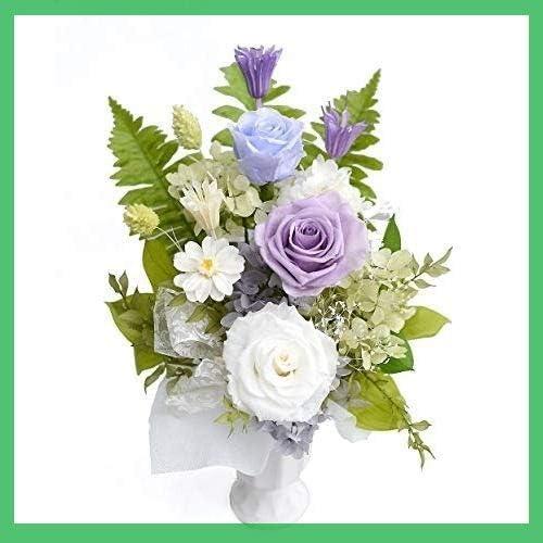 バラ入り 白紫基調プリザーブド フラワー お供え お盆 初盆 お彼岸 秋 フラワー 彼岸仏花