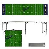NCAA Toledo Rockets Football Field Version 8-Feet Portable Folding Tailgate Table