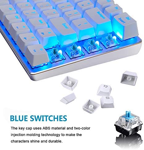 Gaming Keyboard and Mouse,3 in 1 Gaming Set,Blue LED Backlit Wired Gaming Keyboard,RGB Backlit 12000 DPI Lightweight Gaming Mouse with Honeycomb Shell,Large Mouse Pad for PC Game(Macaron Green) 51ccQ180dvL