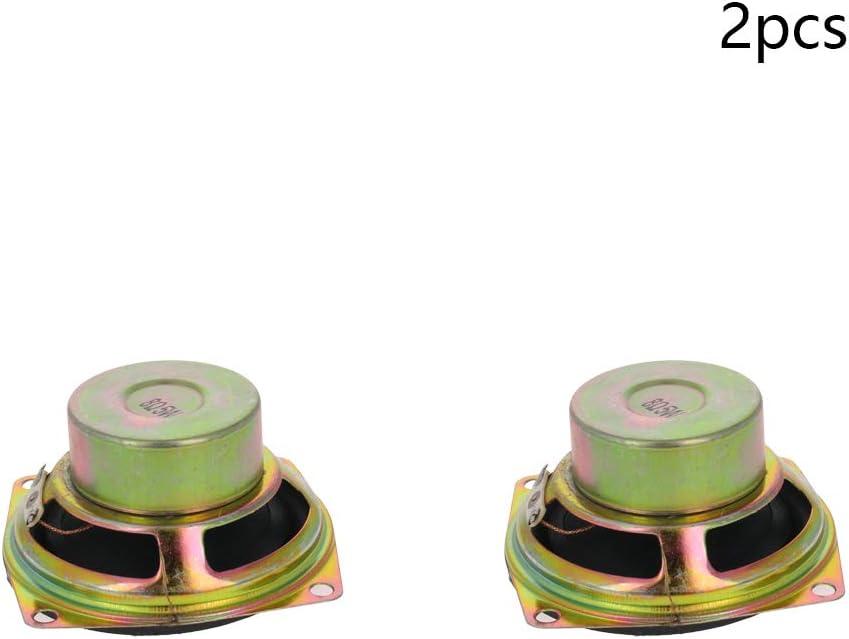 Fielect Magnet Speaker Internal Magnet Speaker Mini Speaker Metal Round 50mm Diameter 5W 8 Ohm 4Pcs
