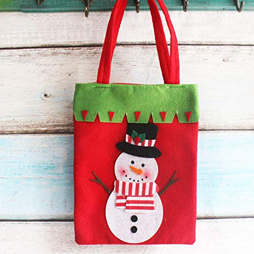YaptheS Christmas Candy Bags Small Handbag Gift Treat Goodie Tote Bag for Kids Children Home Decorations Shopping (Snowman) Christmas Gift by YaptheS (Image #1)