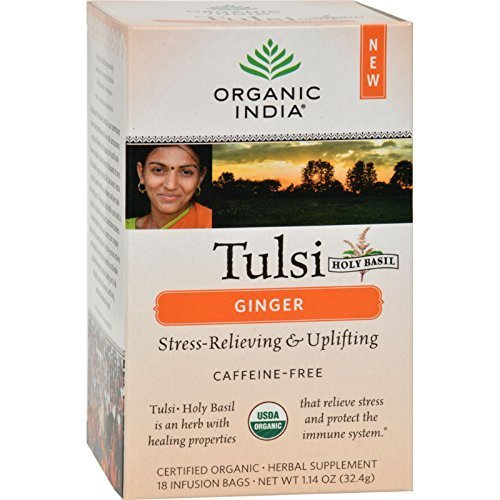ORGANIC INDIA TULSI TEA,OG2,GINGER, 18 BAG by ORGANIC INDIA (Image #1)