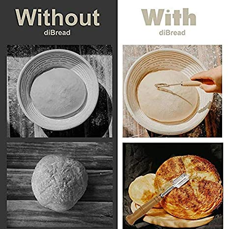 Feeilty Pan Panadería Cortador Roza Herramienta Masa Fabricación Afeitadora Mango Madera Fuente de Horno