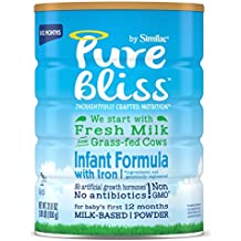 Similac Pure Bliss Infant Formula, Starts with Fresh Milk from Grass-Fed Cows, Baby Formula, 31.8 ounces (Single Can)