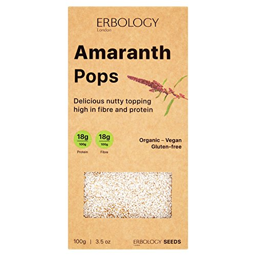 - Organic Puffed Amaranth 3.5 oz - Rich in Protein, Fiber and Minerals - Gluten-free