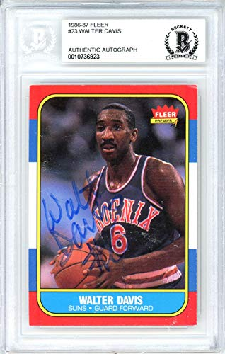 - Walter Davis Autographed 1986 Fleer Card #23 Phoenix Suns Beckett BAS #10736923 - Beckett Authentication