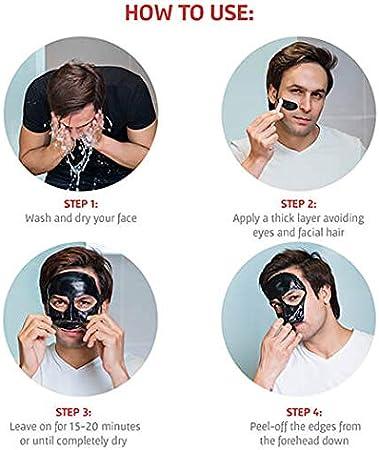 Mascarilla Facial Hidratante de Alginato en Polvo, Elimina Espinillas y Puntos Negros. Mascarilla Vegana, Sin Aclarado, Exfoliante 200 g (Máscara Limo marino Piel grasa)