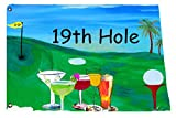 19th Hole Golf Yard Flag From Art