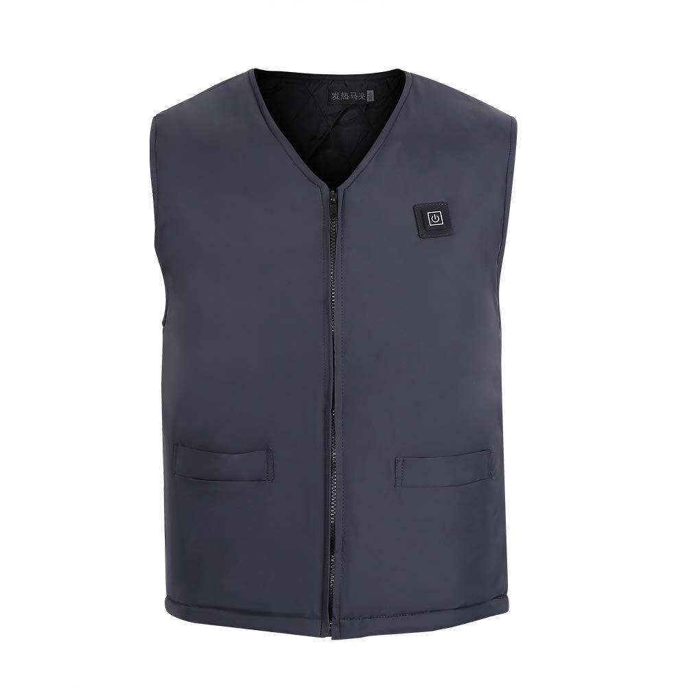 Heating Vest,Unisex USB Electric Heating Vest Temperature Adjustment Winter Warm Up Jacket(175#)