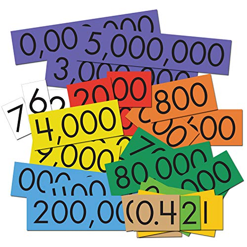 - Essential Learning Products 10-Value Decimals to Whole Numbers Place Cards Set