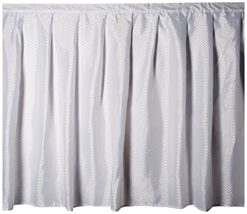- Carnation Home Fashions Lauren Dobby Fabric Sink Skirt, 56-Inch by 32-Inch, White