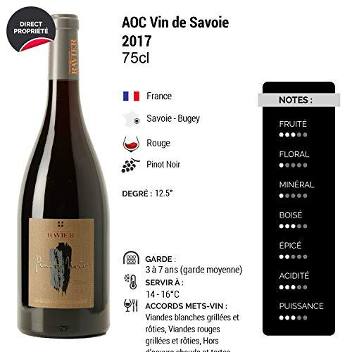 Vin-de-Savoie-Pinot-Noir-Barrique-Rouge-2017-Philippe-et-Sylvain-Ravier-Vin-AOC-Rouge-de-Savoie-Bugey-Cpage-Pinot-Noir-Lot-de-12x75cl