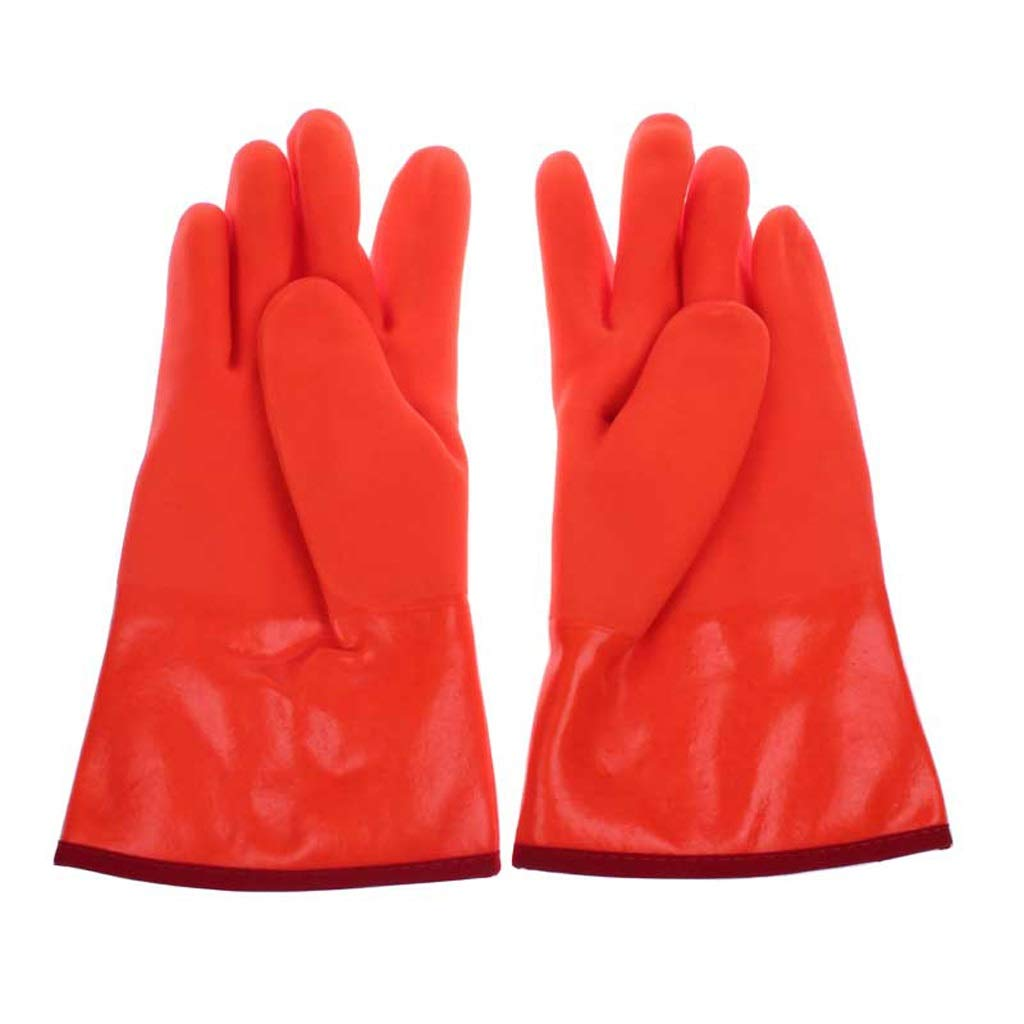 LZRZBH Cryogenic Gloves Waterproof Liquid Nitrogen Protectiove Gloves Cold Storage Frozen Working Gloves (red Small (9x29CM))