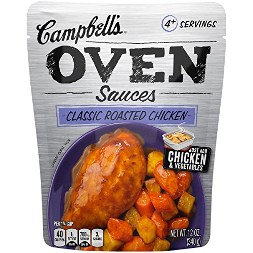 Campbell's Oven Sauces, Classic Roasted Chicken, 12 Ounce (Pack of 6) Oven Roasted Chicken