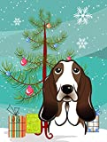 Caroline's Treasures BB1615GF Christmas Tree and Basset Hound Garden Flag, Small, Multicolor Review