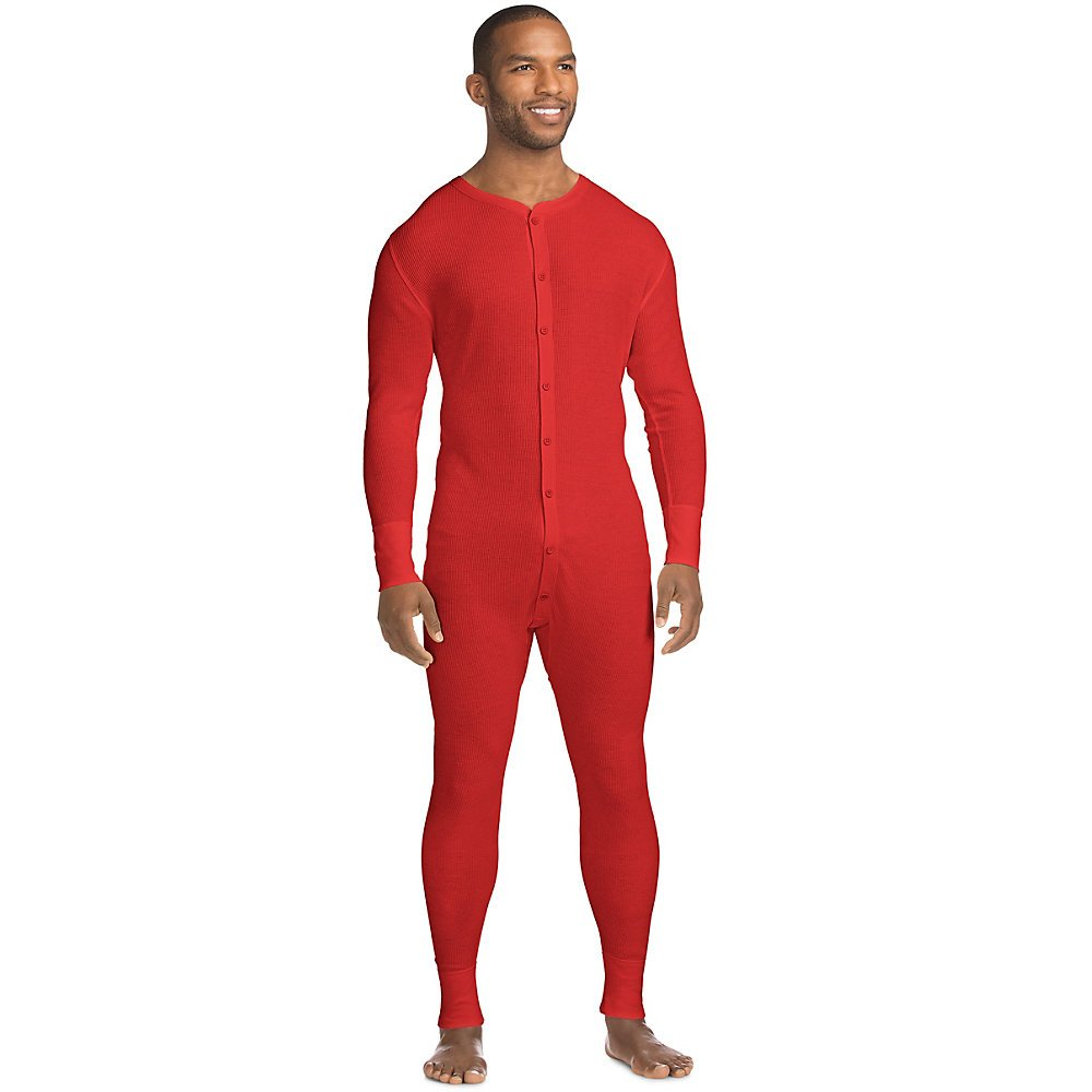 Hanes X-Temp Men`s Thermal Union Suit 14530