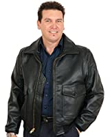 Buy a USA Made Gift! Mens Deerskin G1 Bomber Leather Jacket with Action Back