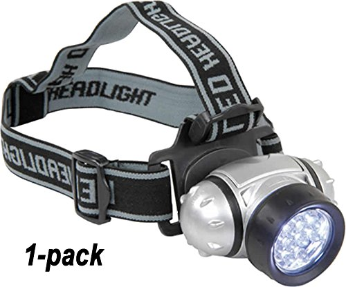 LED-HeadBeam1x Pivoting LED Headlight Headband Light (1-pack) Simple, rugged and