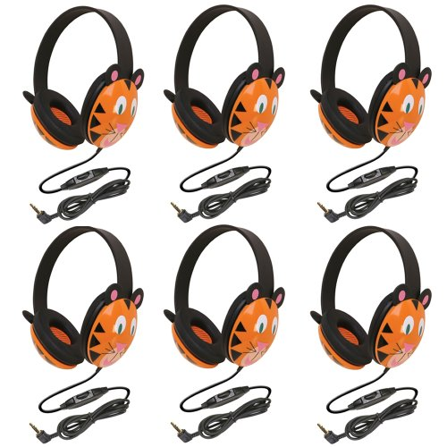 Califone 2810-TI Listening First Stereo Headphone, Tiger Motif - Pack of (First Stereo)